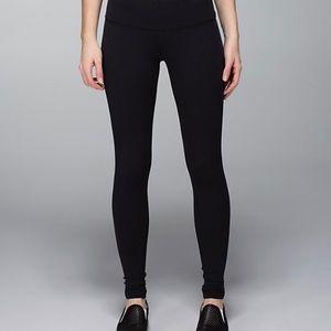 lululemon athletica Pants - Lululemon black Wunder Under leggings 6